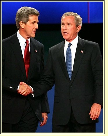 Kerry y Bush