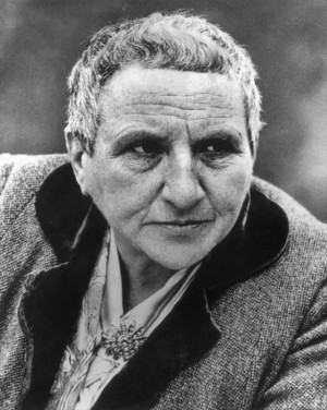 circa 1943:  Headshot image of American author Gertrude Stein.  (Photo by American Stock/Getty Images)