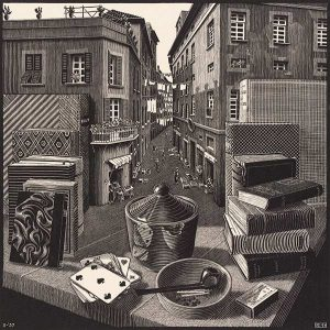 MC-Escher-Sitll-Life-and-Street-19371