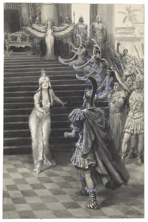 A. M. Faulkner. Antony and Cleopatra. Drawing, 1906. Folger Shakespeare Library.